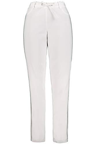 GINA LAURA Damen Bengalinhose Julia, schmales Bein, elastisch, Bindeband weiß 21 722268 20-21