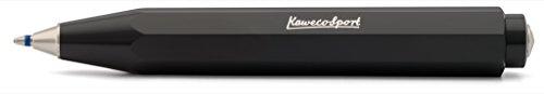 Kaweco Skyline Sport Black Business Kuli aus hochwertigem Kunststoff im Acht Kant Design I Taschen-Kugelschreiber 12g leicht mit zuverlässiger Herzkurvenmechanik I Druckkugelschreiber 10,5cm Schwarz