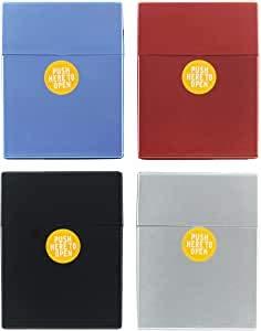 Coney Zigarettenetui XXL Pusch Up Sprung D-Box Zigarettenschachtel Zigarettenbox Kunststoff metallic bis zu 27-30 Zigaretten (1 aus 4)