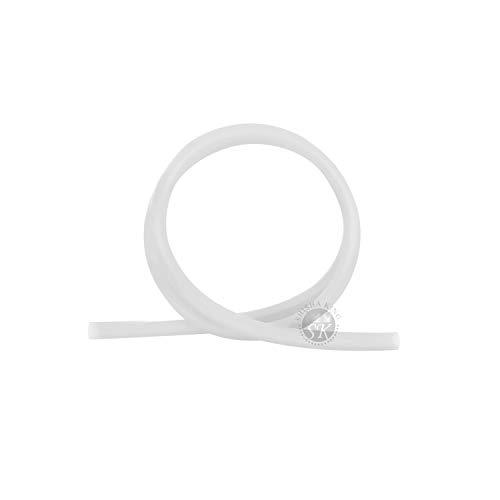 Shisha King® Premium Silikonschlauch matt   150cm lang   für alle Wasserpfeifen & Mundstücke   Zubehör Shisha Schlauch lebensmittelecht Silikon Softtouch Flexibel (Transparent)