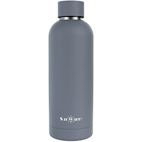 Thermoses,17 oz Water Bottle ,Double Layered Vacuum Insulated Narrow Mouth, Stainless Steel Thermos Flask with Chug Cap,Travel cup Keeps Drinks Cold for 24 Hours and Hot for 12,Matte Gray