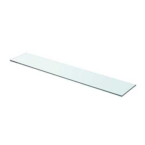 Festnight Ersatzteile Glas Regalboden Glasboden Glas Einlegeboden Max. Tragfähigkeit 15 kg 80 x 15 cm Transparent