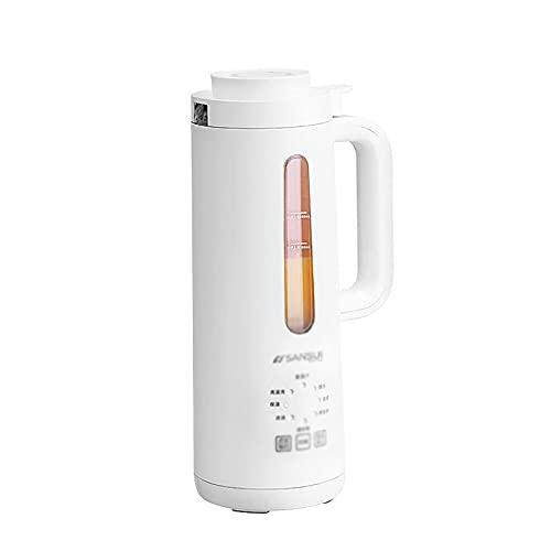 LUXMAX Hermosa Fabricante de sopas Máquina Somilk Portátil Pequeño Calefacción automática y Filtrado Hogar (Color: Blanco, Tamaño: 14.8x30cm) (Color : White, Size : 14.8x30cm)