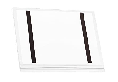 Durable 501819 - Cartellina portadocumenti impermeabile A4 magnetico, confezione da 5 pezzi, trasparente