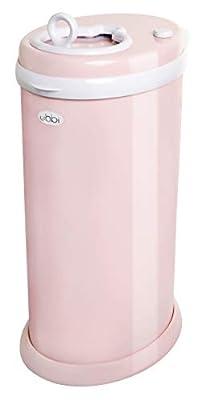 Ubbi Steel Odor Locking, No Special Bag Required, Money Saving, Modern Design, Registry Must-Have Diaper Pail, Blush Pink