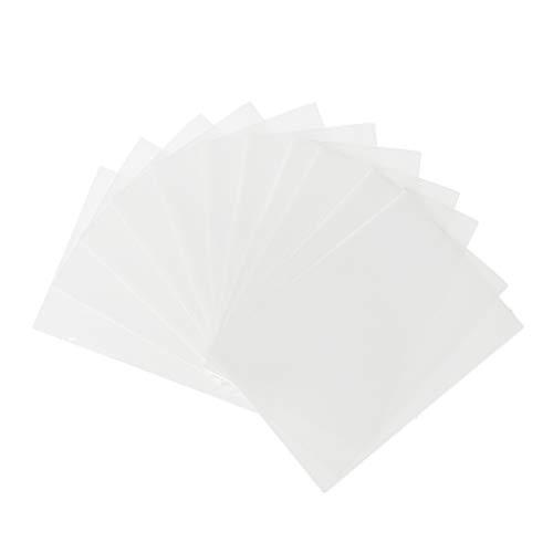 Qiulip 50st Kaarten Mouwen Magic Board Game Tarot Collectie Kaarten Beschermer 6.5cm*9cm Kleur: wit