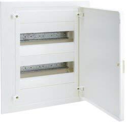Hager golf serie vf - Caja golf empotrar serie vf 2 filas 24 módulos puerta opaco blanco