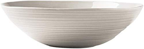 GZA Ensalada Soup Bowl Tazón De Hogares Cerámica De Frutas Y Verduras Simple Tazón Continental Vajilla 19 * 5.6 * 6.5cm para lavavajillas