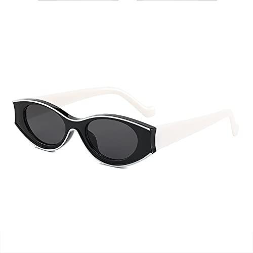 QFSLR Gafas De Sol Ovaladas De Montura Pequeña De Moda para Mujeres Y Hombres con Protección UV400