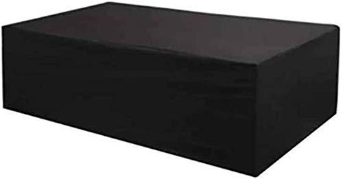 dfff Cubo de ratán para Muebles de jardín Cubiertas para Muebles de jardín Rectangular Cubierta para Muebles de Patio de jardín Impermeable, 35 tamaños (Color: Negro, Tamaño :)