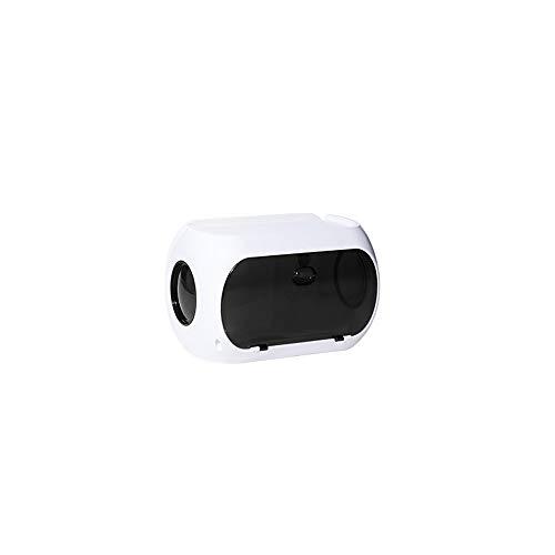 Hanpiyigzjh vävnadslåda, 1pc pappershanddukshållare väggmonterad bänkskiva multifunktionshanddukshållare hand servettförvaringslåda, lämplig för kök och badrum (Color : Black)