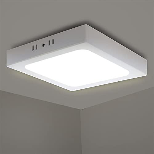 Aigostar Lámpara de Techo LED 18W 1530LM Plafón LED Techo Luz natural 4000K para Cocina Sala de Estar Dormitorio Pasillo D226*H35mm [Clase de...