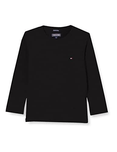 Tommy Hilfiger Jungen Boys Basic CN Knit L/S T-Shirt, Schwarz (Meteorite 055), 104 (Herstellergröße: 4)