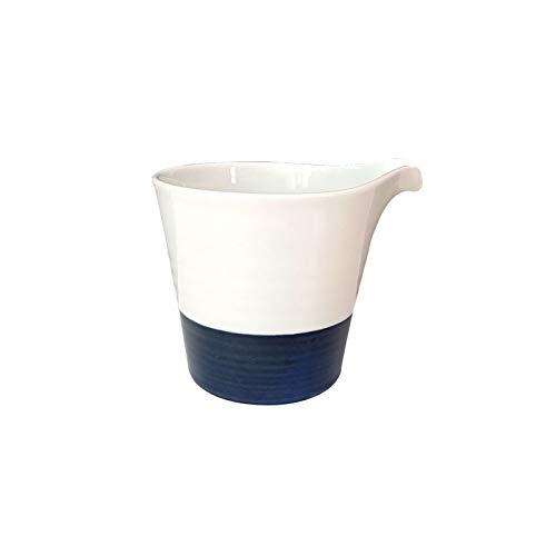 XuYuanjiaShop Salsera Juego de Taller de Lanza de Crema de cermica Kit de azcar y Conjunto de Crema 200 ml Servir Leche/Crema/platillo de Ensalada/de Miel/Salsa/Leche condensada para Hotel
