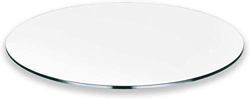All Safe Glass 14' Round Tempered Glass Table Top 3/8' Thick Flat Edge - Clear