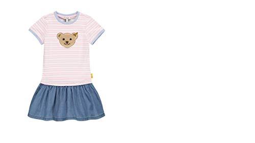 Steiff Hello Summer Kleid,rosa gestreift mit Jeansrock L002113234 gr.110