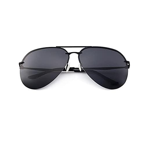 HBR Gafas de Sol polarizadas clásicas para Mujeres Aviator Gafas de Sol Lentes con Espejo Retro Shades para Conducir Gafas de Sol al Aire Libre Accesorios de Moda (Color : Black Gray)