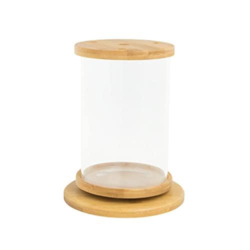 DALIZHAI777 Aquarium Kreativer drehbarer Desktop-Fisch-Tank-transparentes Glas Kleiner Zierfisch Betta-Fischtank Bürohaushalt der ökologischen Flasche Fischglas