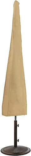 YUNZHIDUAN Funda para sombrilla, 5 Piezas Fundas Impermeables para sombrilla de Patio para sombrilla Redonda de 10 pies/sombrilla Cuadrada de 7 pies, para sombrillas de Exterior con Varilla de Empuje