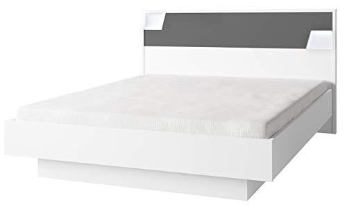 Movian Lagan Doppelbett aufklappbar mit Stauraum, 160–200cm, Alpinweiß