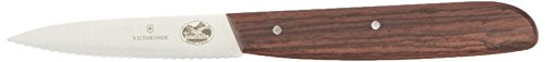 """Victorinox Rosewood 3.25 Inch Paring Knife with Serrated Edge, Spear Point, 3.25"""""""