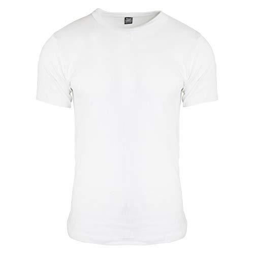 Floso - T-Shirt Thermique à Manches Courtes (en Viscose) - Homme (XL) (Blanc)