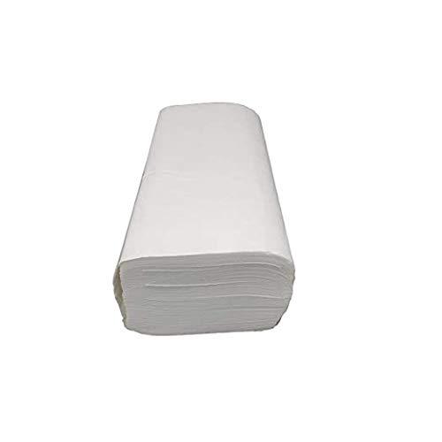 EnPack - 4000 Blatt Weiße Papierhandtücher - 2-lagig 25 x 23 cm ZZ-Falz Weiss - Allzweck Papiertücher - Spender tauglich - Einweghandtücher - Einmalpapier - Universaler gebrauch