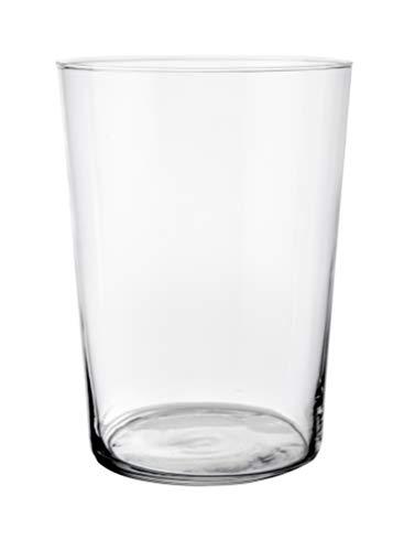 Set 12 Uds. Vaso Sidra 50 Cl. Fabricado en Vidrio Tensionado. Medidas: Alto 12.1 Cm y Diámetro Ø8.9 Cm.