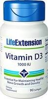 Life Extension 25Mcg Vitamina D3 90 Softgels - 180 g