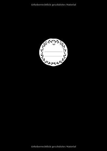 BLANKO NOTIZBUCH A4: Journal zum Gestalten oder als Zeichenbuch, Skizzenbuch, Notizheft, Blankobuch, Malbuch | 110 Seiten leer | Weißes Papier | Softcover Schwarz
