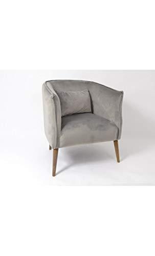 Edell – Poltrona in velluto grigio