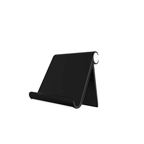 Soporte universal para tablet – Ángulo ajustable, soporte para tablet para casa, tablet, oficina, soporte para teléfono móvil, compatible con Android, iOS (Black-2)