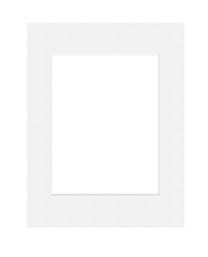 Deha Passepartout 30x40 cm für Bilder im Format 20,5x29,5 cm (DIN A4), Hellweiß