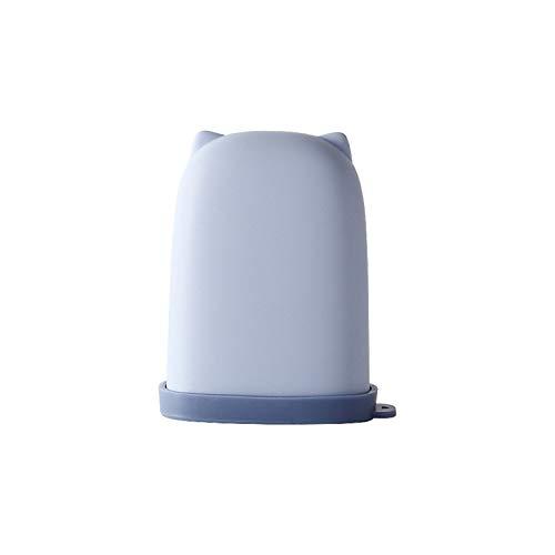 Mentalism Caja de jabón portátil de viaje de silicona sencilla con tapa, creativa caja de jabón para inodoro