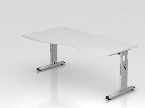 HAMMERBACHER VOS18/W Schreibtisch TZ-Form weiß,SI