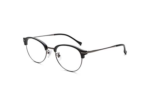 PINT GLASSES ピントグラス 軽度レンズ 自分の目でピントを探す老眼鏡 (度数 +0.0D 〜 +1.75Dの累進設計) ラウンドブローフレーム 専用ケース・メガネ拭き付き マットブラック PG-112L-MBK-E