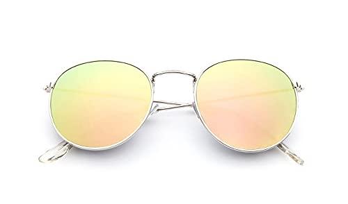 KTZAJO Gafas de sol ovaladas retro para mujer y hombre, color negro, rojo, amarillo, lentes de sol (color: C12)