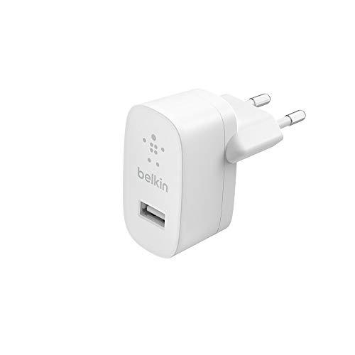 Belkin cargador USB de 12 W, cargador de pared USB para iPhone12, 12Pro, 12Pro Max, 12 mini y modelos anteriores, iPad, AirPods, Samsung Galaxy, Google Pixel y otros