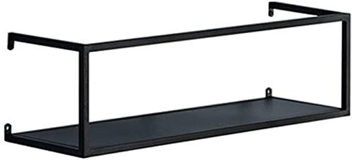 HJW Praktische opbergrek Geometrie Stereoscopische drijvende plank Metaal Zwart, Thuis Opknoping Opbergrek Stand voor Modern Design en Hedendaags Design Decoratie Display 1Huiyang-01020,50 Cm