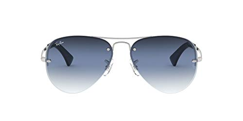 Ray-Ban 0RB3449-91290S-59 Gafas, Silver (91290s), L Unisex Adulto