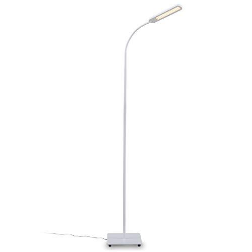 B.K.Licht Lampa stojąca LED biała ściemniana I wraz z 8 W 600 lm LED platyna I lampa stojąca I CCT 3000 K - 6500 K ciepła biel - zimna biel | funkcja Memory & Touch
