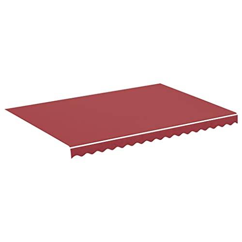 vidaXL Tela de Repuesto para Toldo Parte Superior Dosel Lona Recambio Jardín Patio Terraza Balcón Parasol Refugio Impermeable Rojo Burdeos 3,5x2,5 m