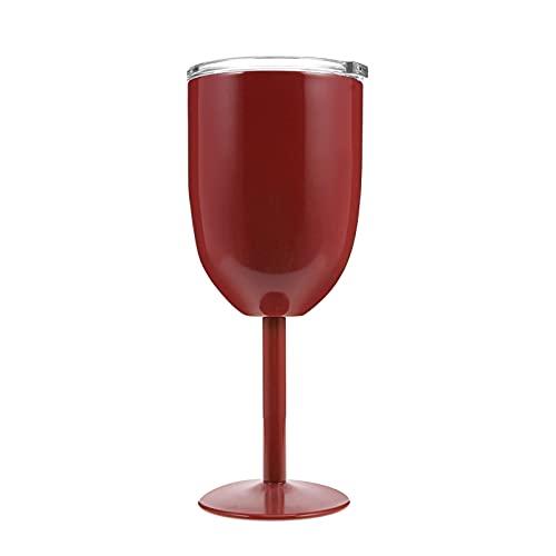 Copas de vino 304 Cubiletas de vino tinto de acero inoxidable, herramientas de cocina de 500 ml (Color : W)