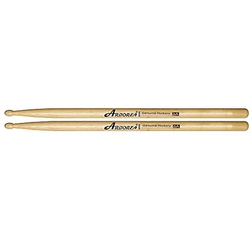 Arborea ドラムスティック 5A/5B/7A シリーズ 1ペア ヒッコリー製 細くて軽い (5A:14.4*406mm)