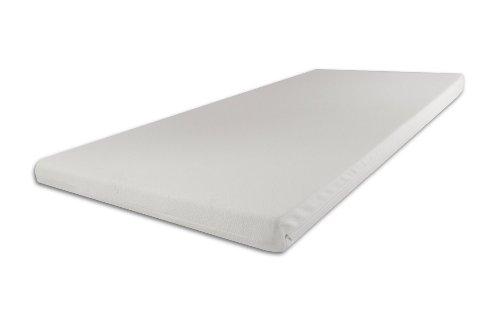 SW Bedding Viscoelastische Matratzenauflage 200 x 160 x 5cm H2 mit Bezug Ideal