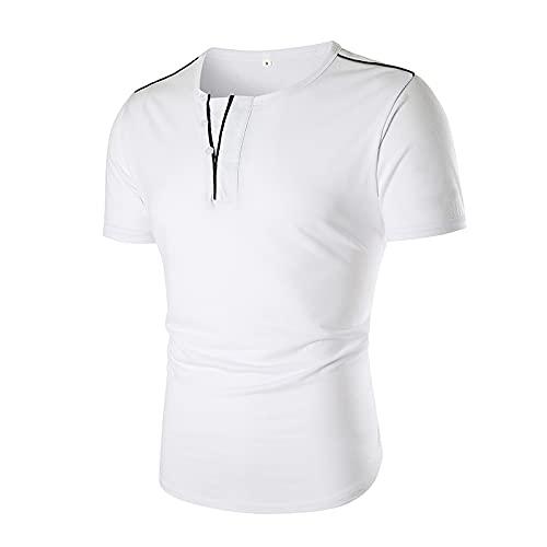 CFWL Camiseta De Manga Corta Delgada con Cuello En V Falso con Cuello En V Y Escote para Hombre De Verano...