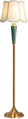 Luz de Piso Lámpara de pie de Estilo Europeo LED Vintage Retro Sala de Estar Dormitorio Estudio Lámpara de Lectura de Poste Alto Lámpara de Mesa Vertical de cerámica (Interruptor de pie) Lámpara