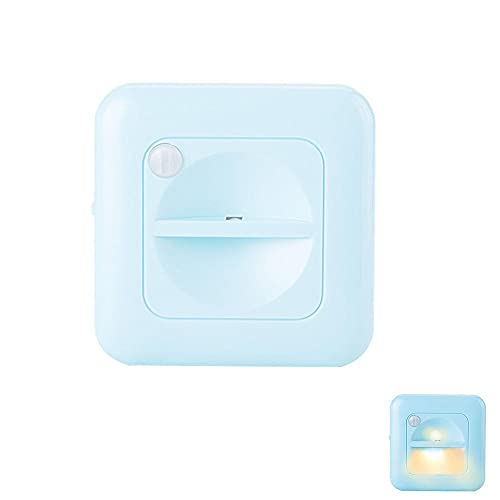 LLDE Luz LED nocturna para armario, luz de pared cuadrada, funciona con pilas, lámpara de noche LED con sensor inteligente con imán integrado para dormitorio, baño, cocina, pasillo, escaleras