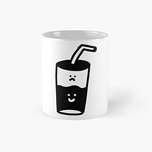 Optimist Pessimist Classic Mug - 11 Ounce For Coffee, Tea, Chocolate Or Latte.