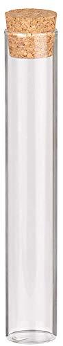 Reagenzglas mit Korken 15 cm, 48 Stueck